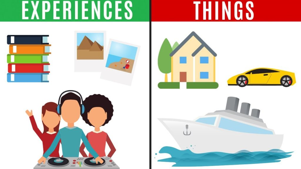 experiences vs objects